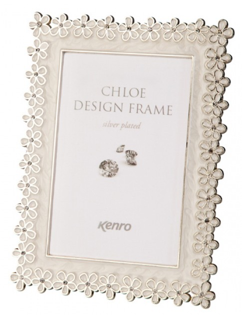 silver plated photo frame |enamel photo frame | CL1015W