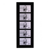 Black Glass Frame For For Five 4x6'' / 10x15cm Photos. Stylish and Modern.  Generous Black border. Comes in Gift Box.  - BG1015/5 .  Bulk Order Discounts Available