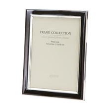 Classic style Black metal frames with a tarnish resistant silver plated border, finished with black inlays. Choice of FOUR SIZES (4x6'', 5x7'',6x8'', 8x10'').  Comes in Gift Box.  .  Bulk Order Discounts Available