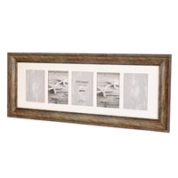 Bergamo Rustic Brown Collage Picture Frame holds five 4x6
