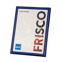 A4 / 21x29.7cm  Frisco Blue Polymer Picture Frame  with Gloss Finish. Rounded Profile: 12mm wide x 16mm deep. - FR2130UE Online Bulk Order Discounts Starting at 6 Units
