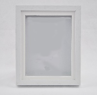 White Wood Shadow Box Frame with Mount.  Available  at Trade Prices in Pack Sizes from 8 to 20. From 5.7 + Vat Per Frame.  27 Sizes Available from 4x6'' to A2.  Moulding: 20mm Wide x 32mm Deep with 19mm Gap Between Back of Glass and Back of Frame.