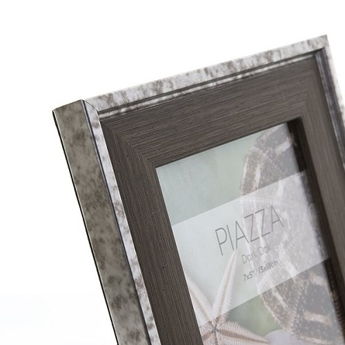 "8x10"" / 20x25cm Piazza Dark Oak hand Crafted Wood Picture Frame. Wood Stain Finish. Flat Profile: 36mm Wide x 20mm deep."